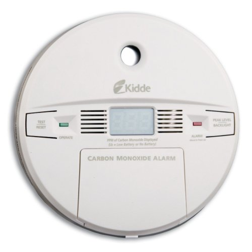 Kidde KN-COPP-B Front Load Battery-Operated Carbon Monoxide Alarm with Digital Display