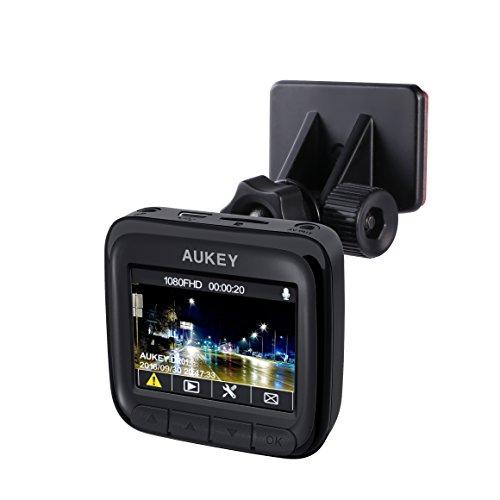 AUKEY ドライブレコーダー 1080Pカメラ 2インチLCD画面 139°広角 Gセンサー搭載 タイムラプス録画/常時録画/緊急録画/動体検知対応 DR-01