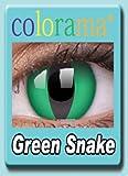 Farbige Kontaktlinsen Crazy Motivlinsen Kostüm Karneval Green Snake - Mit Verdehschutz!!!