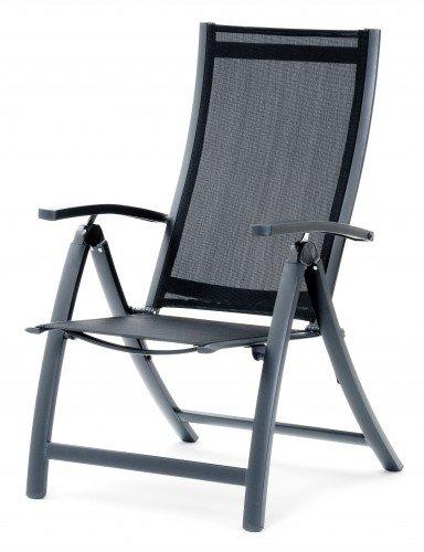 Belardo Garten Möbel - Klappsessel mit verstellbarer Rückenlehne und Aluminiumarmlehnen, Serie ISSORIA