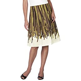Merona® Pleated Skirt - Feather Print