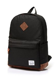 Vaschy-Unisex-Classic-Water-Resistant-School-Rucksack-Travel-Backpack-14Inch-Laptop