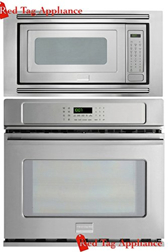 single wall oven frigidaire professional 27 stainless steel electric wall oven microwave combo fpew2785pf fpmo209kf mwtkp27kf