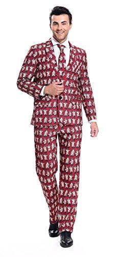 YOU LOOK UGLY TODAY Modisch Normaler Schnitt Herren Party Anzug Weihnachten Kostüme Party Suits Festliche Anzüge mit lustigen Mustern