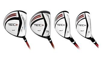 INTECH Men's Tec + Driver, 3 Fairway Wood, 3 Hybrid, 4 Hybrid (Men's, Left Hand, Graphite, Regular Flex)
