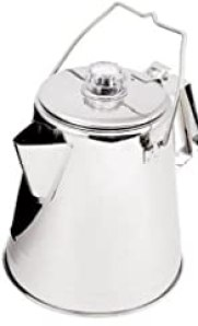 GSI Outdoors Glacier Stainless Percolator with Silicone Handle, 9 Cup