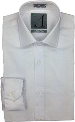 ALVISO-Boys-White-Long-Sleeve-SLIM-FIT-Dress-Shirt-T601-BOBS
