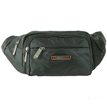 Alpine-Swiss-Fanny-Pack-Travel-Case-Adjustable-Belt-Sport-Pouch-Waist-Bag-Black