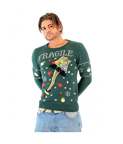 A-Christmas-Story-Fragile-Leg-Lamp-Light-Up-Adult-Green-Ugly-Christmas-Sweater