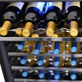NewAir AW-281E 28 Bottle Wine Cooler with Slide Out Racks