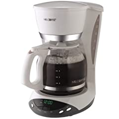 Mr. Coffee DWX20 12-Cup Programmable Coffeemaker, White