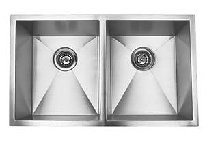 6 37 inch stainless steel undermount 5050 double bowl kitchen sink zero radius design brabantia t1