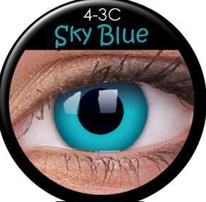 Farbige Kontaktlinsen crazy Kontaktlinsen crazy contact lenses Skyblue Blaue Kontaktlinsen 1 Paar. Mit Linsenbehälter!