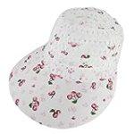 Allegra K Red Fruit Prints Plastic Mesh Polyester Brimmed Hat Cap for Lady