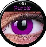 Farbige Kontaktlinsen crazy Kontaktlinsen crazy contact lenses lila violet purple 1 Paar