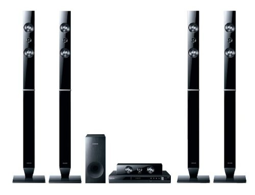 Samsung HT-D355 5.1 DVD-Heimkinosystem (HDMI, USB, Full-HD-Upscaling) perlschwarz