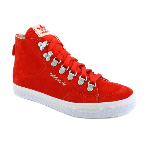 Adidas Honey Hook Damen Laced Wildleder Sneakers rot weiß - 5