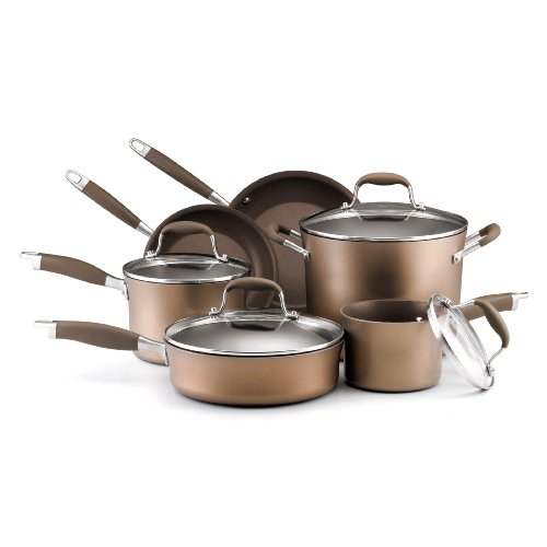 Sale Low Price Today Anolon Advanced Bronze Collection Hard Anodized Nonstick 10-Piece Cookware Set Save Now