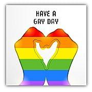 LGBT Rainbow Flag Have A Gay Day Car Window Bumper Decal Vinyl Sticker 5 X 5
