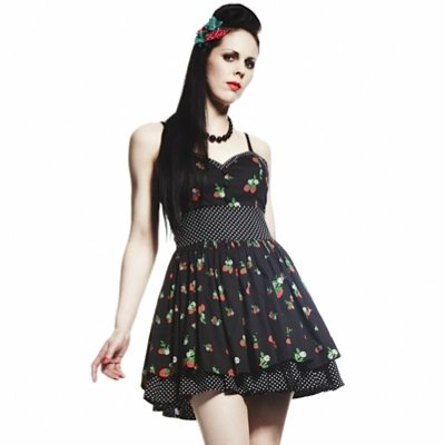 Hell Bunny Minikleid ISOBEL DRESS black