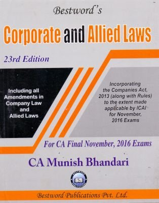 Corporate & Allied Laws for CA Final Nov. 2016 Exam