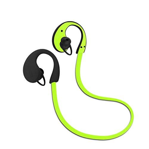 Imarku Bluetooth 4.0 スポーツイヤホン 正規品 メーカー1年保証 ワイヤレスステレオヘッドセット 防汗機能付き マイク内蔵 高音質 防汗 防滴 ランニング ジョギング用 ハンズフリー 通話可能 ブラック グリーン ブルー 3色 技適認証済 iphoneandroidなど対応 グリーン