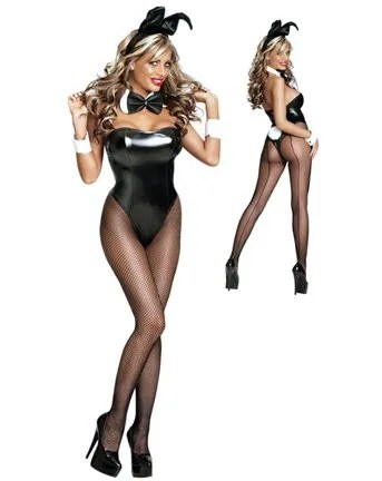 Sexy Club Bunny Plus Size Costume Outfit