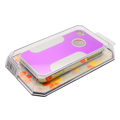 IPHONE4GPCAC014 Premium Chrome Aluminum Hard Case for Apple iPhone 4/4G/4S