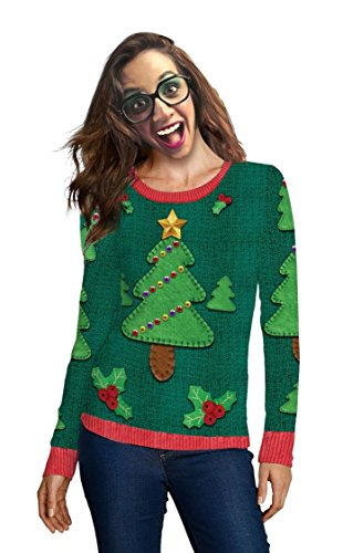 Women's Miss Tacky Ugly Sweater Long Sleeve T-Shirt