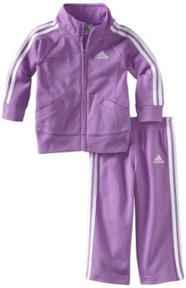 Adidas-Baby-Girls-Iconic-Tricot-Jacket-and-Pant-Set-Purple-Basic-12-Months