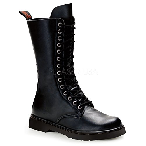 Demonia Unisex Defiant 300 Combat Boots, Black Vegan Leather, 9 M
