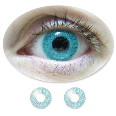 ColorMaker wasserfarbende farbige Kontaktlinsen Monatslinsen Fun Aqua ohne Stärken / Dioptrien