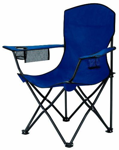 L.A. Trekking Falt-Stuhl Steel 600D Polyester, blau, 85 x 52 x 91 cm