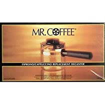 Mr. Coffee Espresso Carafe Assembly with Lid, Black 4 Cup