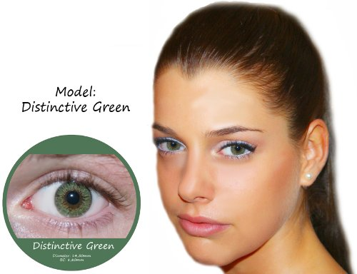 Farbige Kontaktlinsen Grün 3 Monatslinsen Contact lenses Design: Distinctive Green