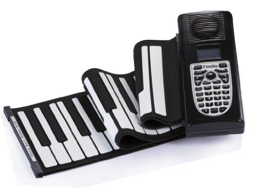 Digital Piano - 61 Keys Soft Digital Roll-Up Folding 3D Keyboard Piano Electronic Playing Toys