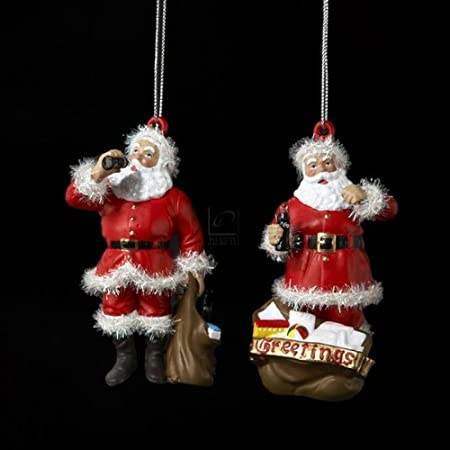 Set of 2 Coca-Cola Santas