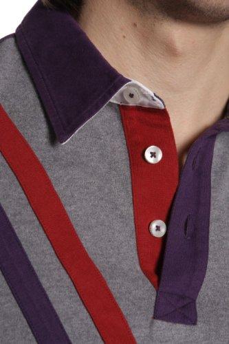 Galvanni Long Sleeve Polo Shirt ABIBO, Color: Grey