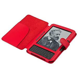 "CE Compass Red Leather Cover Case for Kindle 3 (3rd Third Generation 6"" Kindle Wi-fi + 3g)"