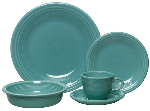 Fiesta 5-Piece Place Setting, Turquoise