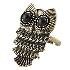 New Fashion Lady Exquisite Ancient Adjustable Metal Owl Retro Style Ring Gift #1