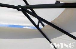 Pavillon Paris 3x4m - Platingrau mit Seitenwand Set Grasekamp