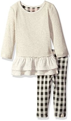 Burts-Bees-Baby-Girls-Organic-Ruffle-Thermal-Dress-and-Legging-Set