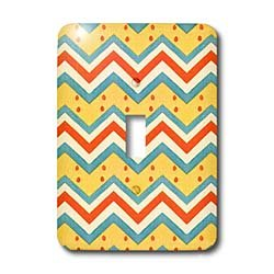 TNMGraphics Abstract Designs - Zig Zag Dots - Light Switch Covers - single toggle switch