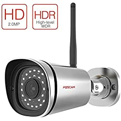 Foscam FI9900P Outdoor HD 1080P Wireless Plug and Play IP Camera (Silver)