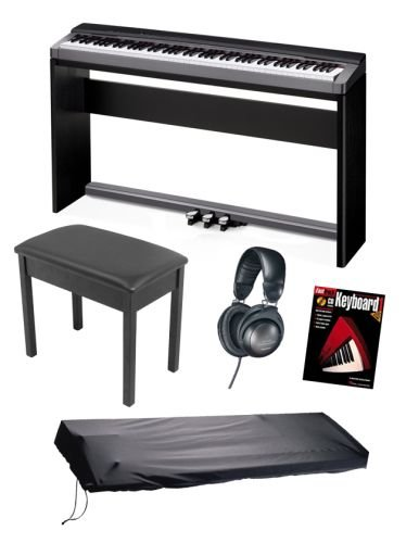 best buy casio px130 privia digital piano keyboard bundle including stand triple pedal board. Black Bedroom Furniture Sets. Home Design Ideas