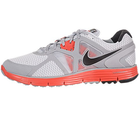 Buy Nike Lunarglide+ 3 - Pure Platinum / Black-Wolf Grey-Mx Orange, 9 D US