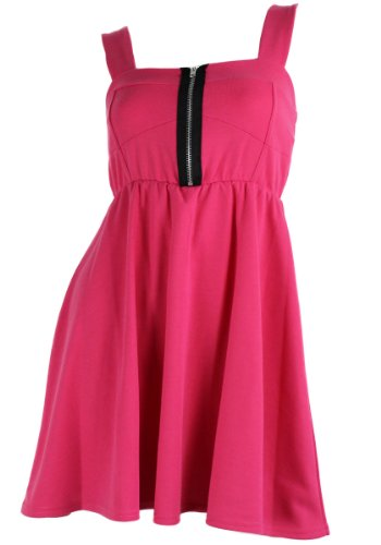 Hübsches Trägerkleid / Minikleid im 50er Jahre Stil pink