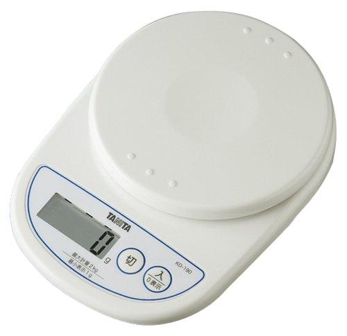 TANITA デジタルクッキングスケール ホワイト KD-190-WH
