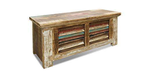 Square Wooden Trunk Style Coffee Table
